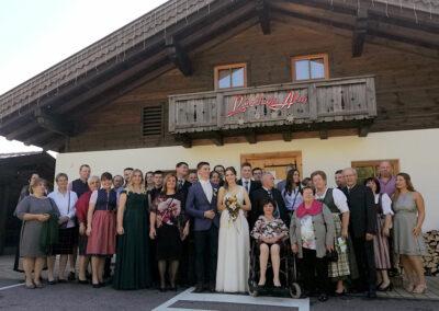 Hochzeitsfeier in der Lederhosn Alm